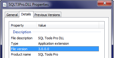 Windows 7 Properties Dialog